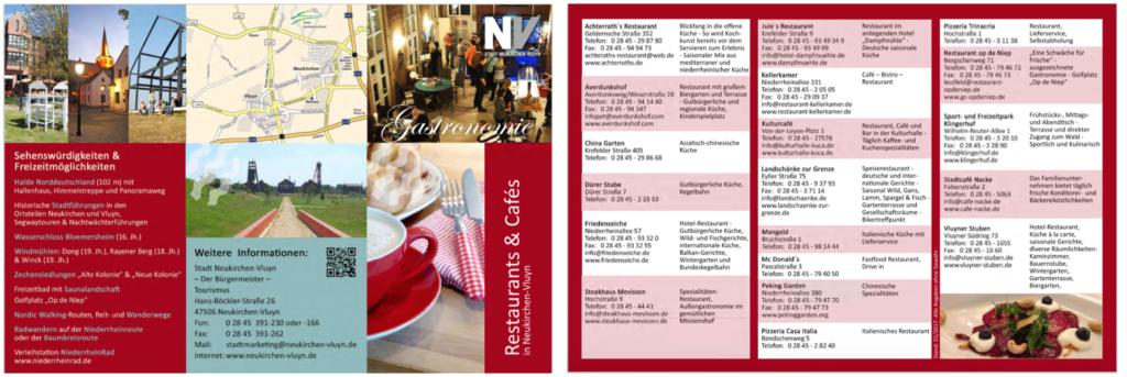 Gastronomiewegweiser Neukirchen-Vluyn und Moers